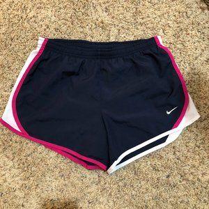 Nike Navy Blue Pink White Running Shorts